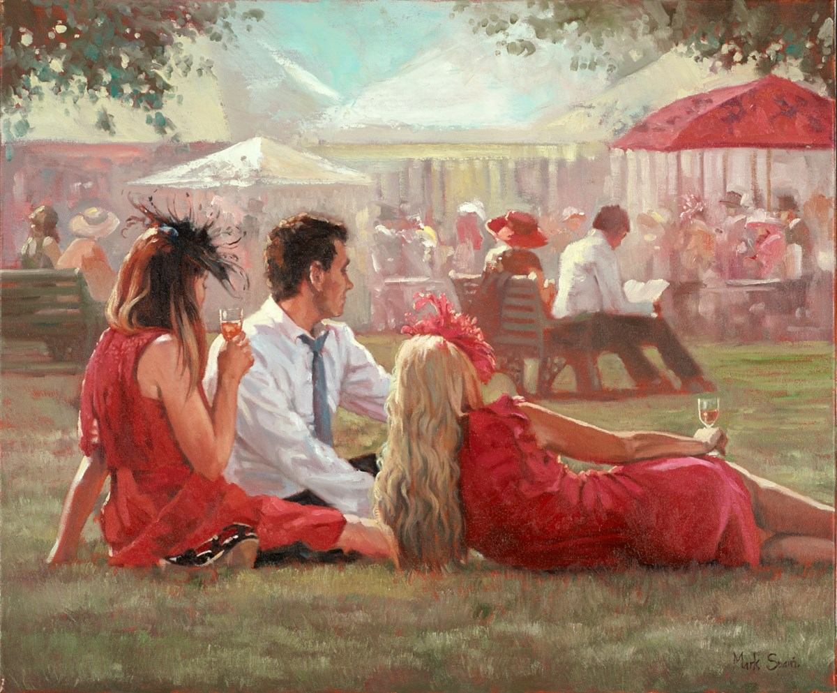 The Garden Party by mark spain -  sized 24x20 inches. Available from Whitewall Galleries